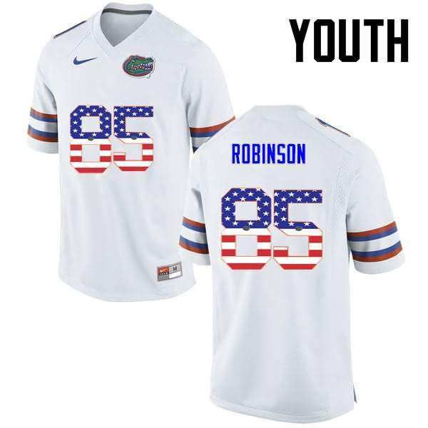 Youth Florida Gators #85 James Robinson USA Flag Fashion Nike NCAA College Football Jersey GSJ023GJ
