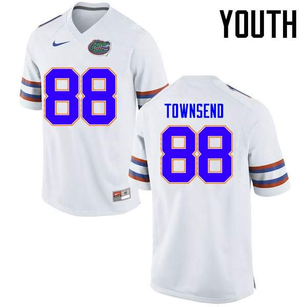 Youth Florida Gators #88 Tommy Townsend White Nike NCAA College Football Jersey XLA777GJ