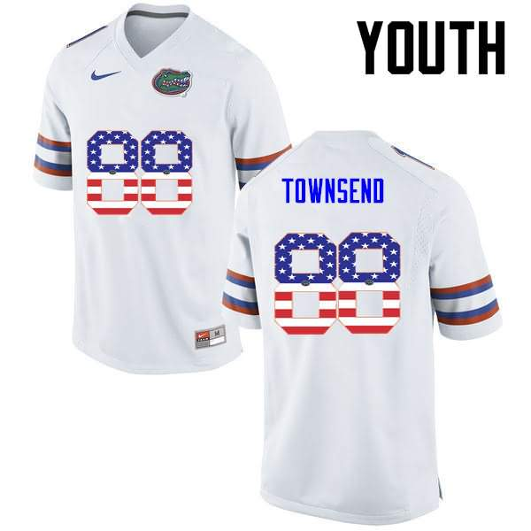 Youth Florida Gators #88 Tommy Townsend USA Flag Fashion Nike NCAA College Football Jersey YFI518HJ