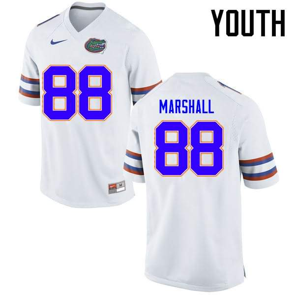 Youth Florida Gators #88 Wilber Marshall White Nike NCAA College Football Jersey ICK731SJ