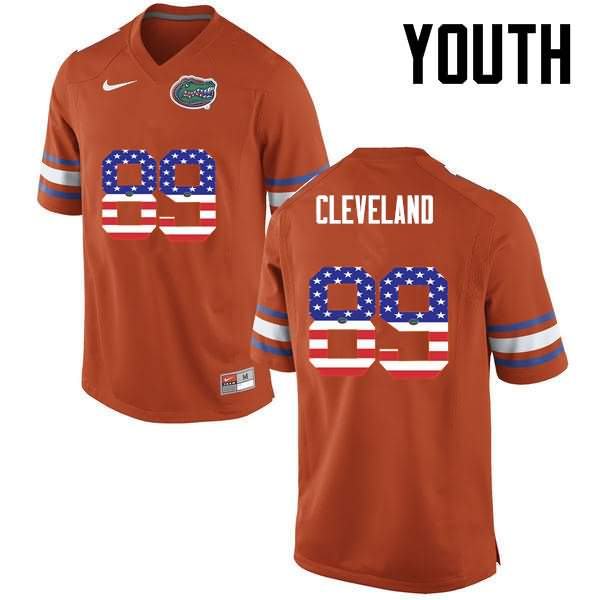 Youth Florida Gators #89 Tyrie Cleveland USA Flag Fashion Nike NCAA College Football Jersey FHD643YJ