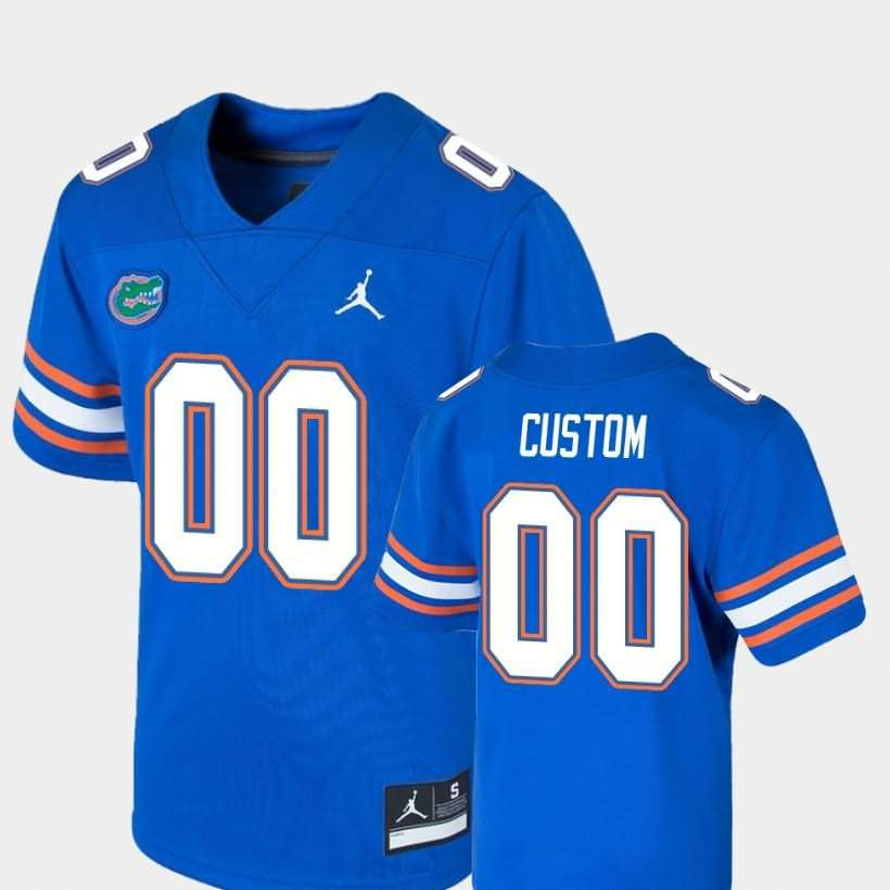 Youth Florida Gators #00 Custom Game Royal Jordan Brand NCAA College Football Jersey QAT181XJ